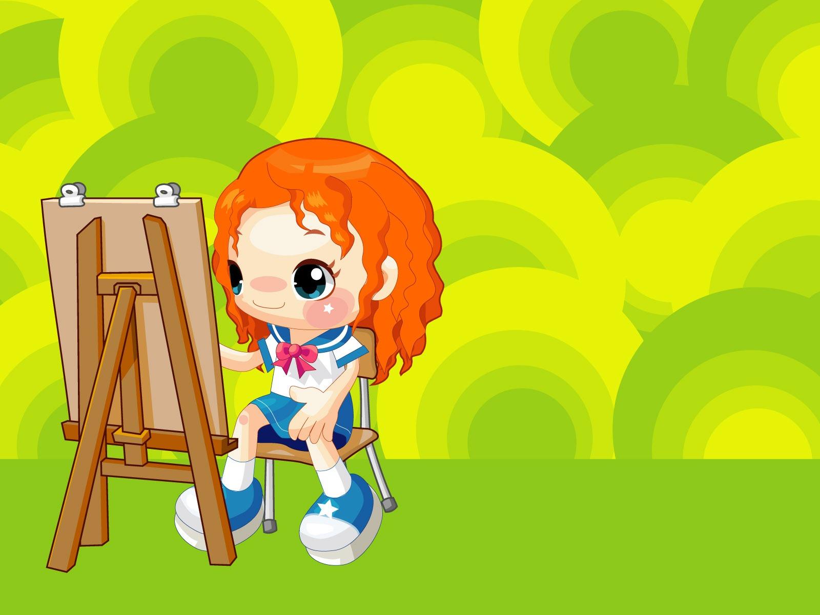 Descripción : Dibujos animados infantiles Fondos de vectores (1) #9