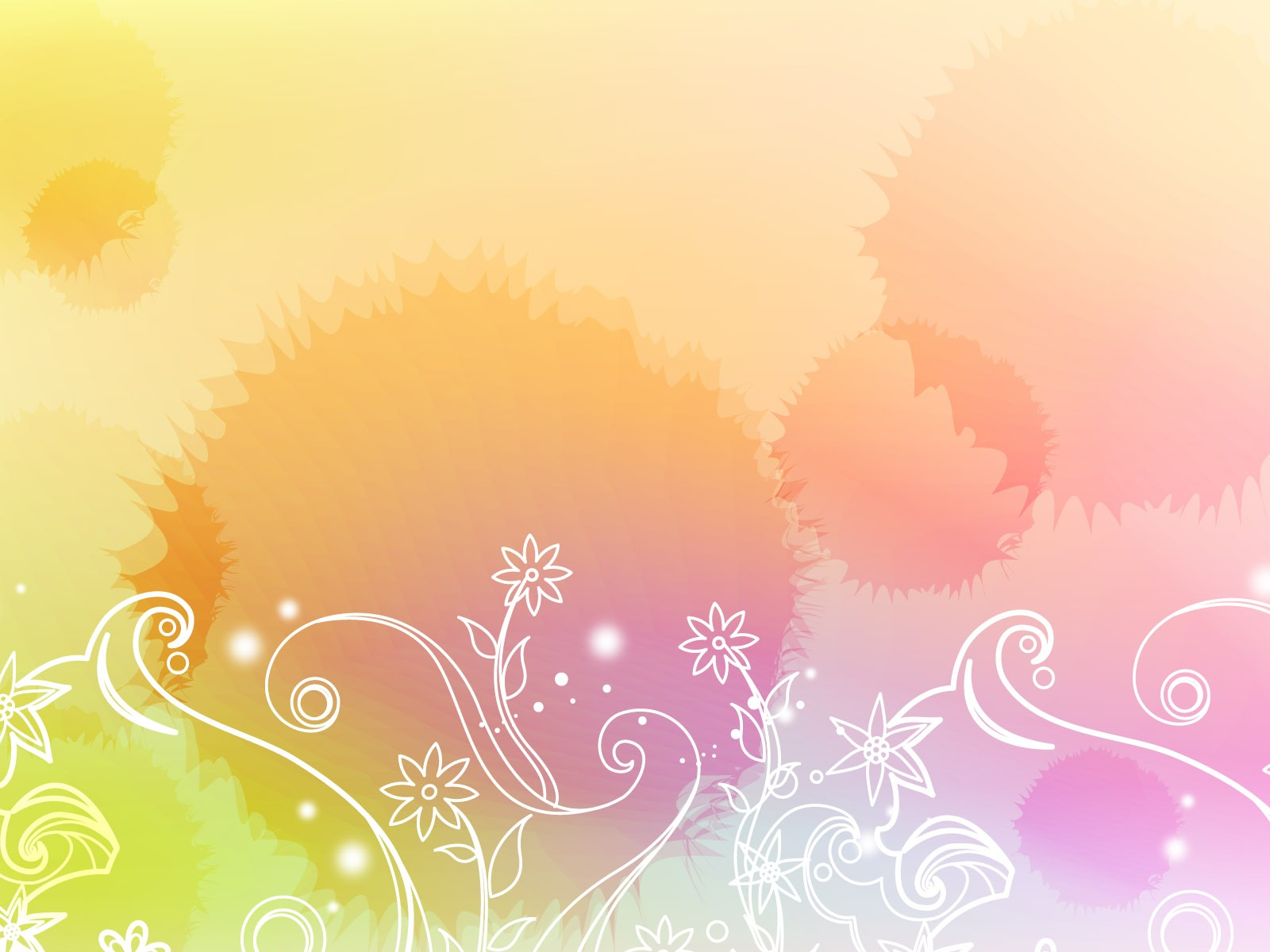 Colorful vector background wallpaper 2 9 1600x1200 - Papel tapiz infantil ...