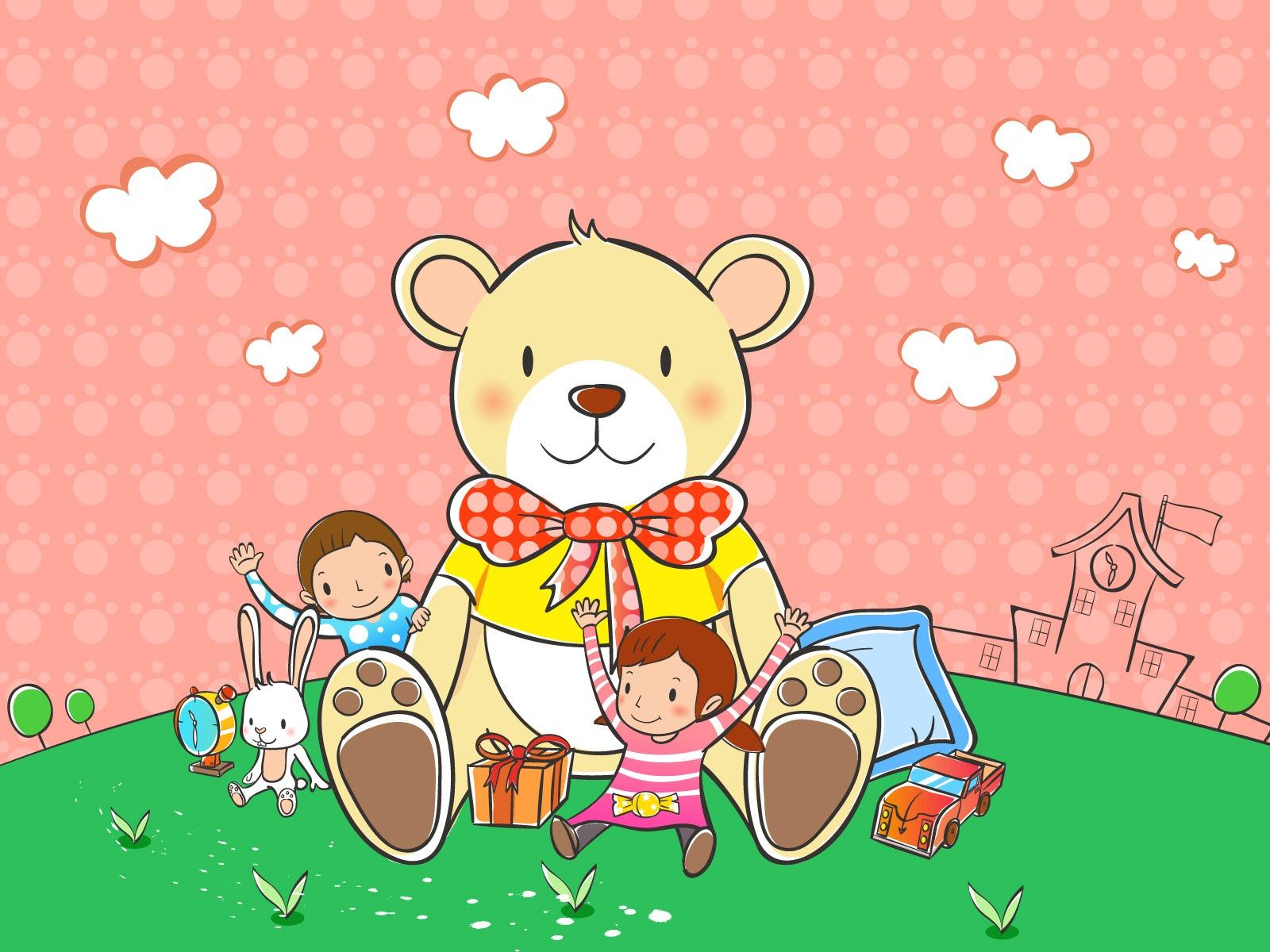Vectores de dibujos animados fondos de escritorio de la infancia 2 14 1600x1200 fondos de - Fondos de escritorio animados ...