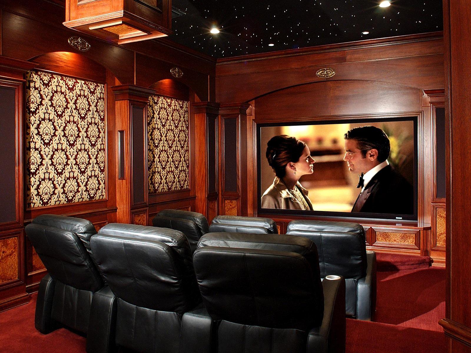 Fondo de pantalla de cine en casa 2 4 1600x1200 - Fotos salas de cine en casa ...