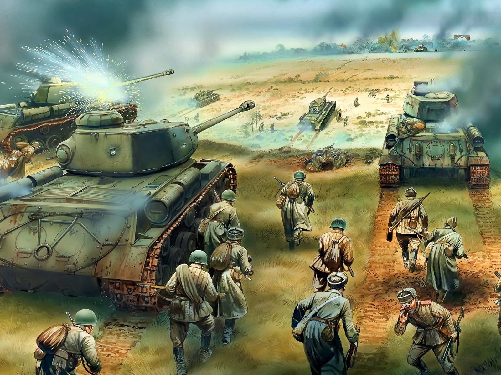 军事坦克装甲 高清绘画壁纸20 - 1600x1200 壁纸下载