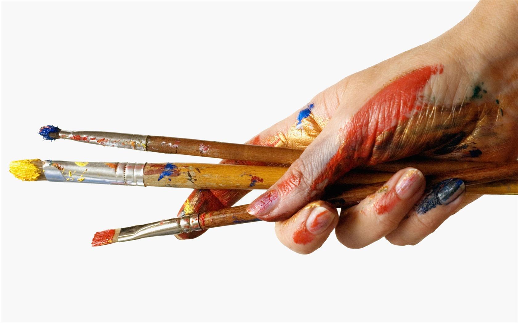 pincel con pintura. colorido fondo de pantalla pinceles pintura (1) #8 - 1680x1050. pincel con r