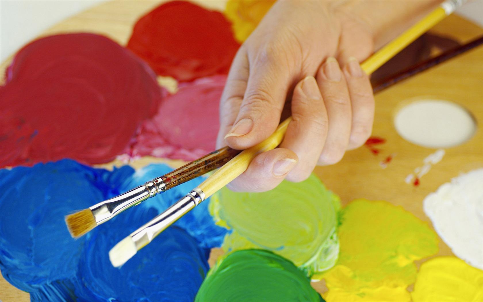 Сделать кисть для рисования своими руками