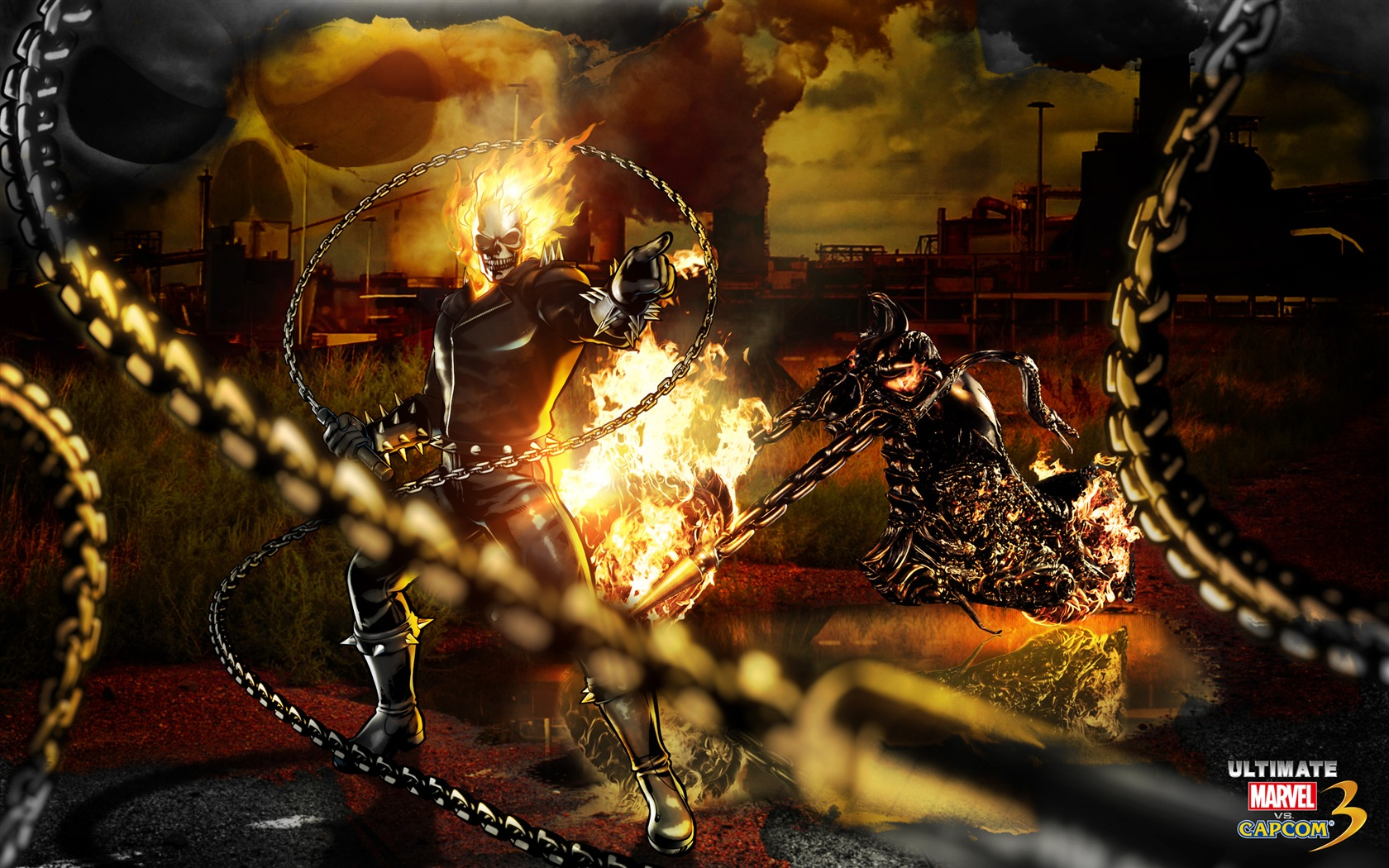 ghost rider ultimate marvel vs capcom 3 wallpaper