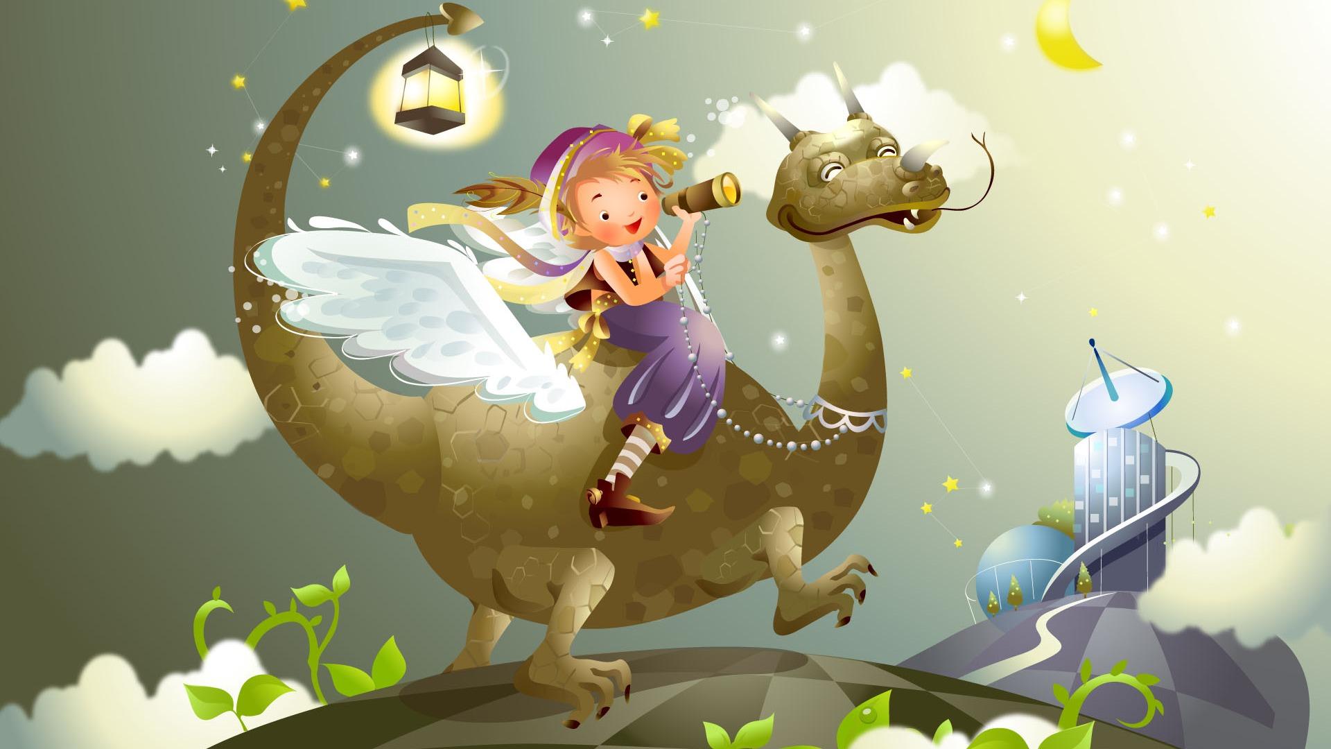 fairy tales vector wallpaper (2) #19 - 1920x1080 wallpaper download