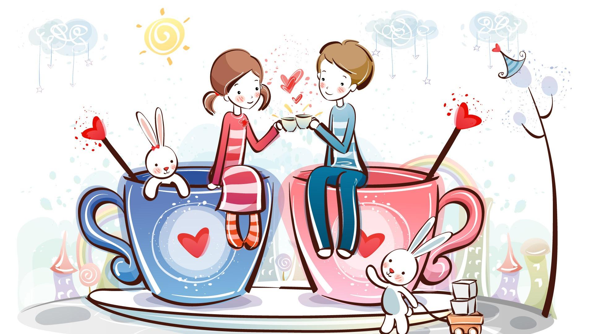 Fondos De Pantalla Animados De San Valentín: Fondos De Pantalla De Dibujos Animados De San Valentín (2