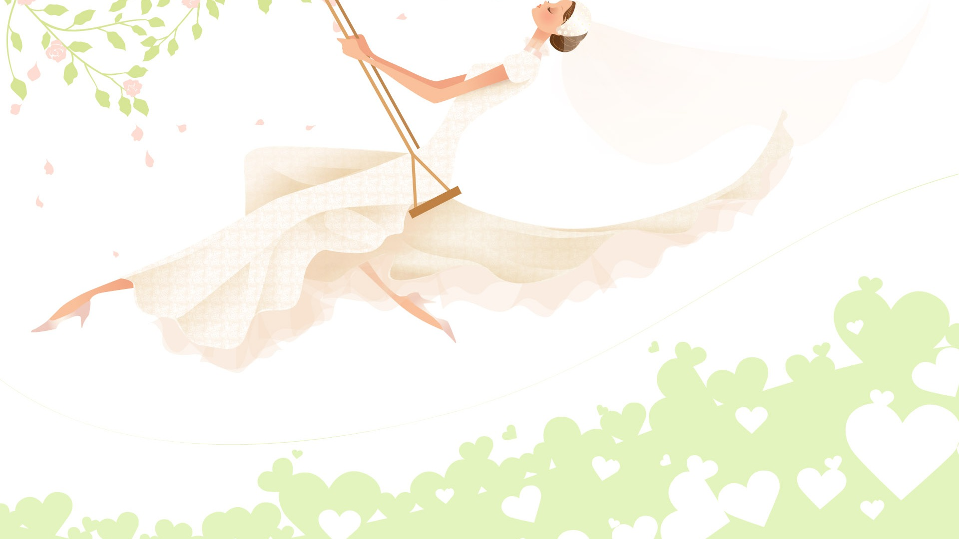 Vector Wallpaper Hochzeit Braut 2 18 1920x1080 Wallpaper