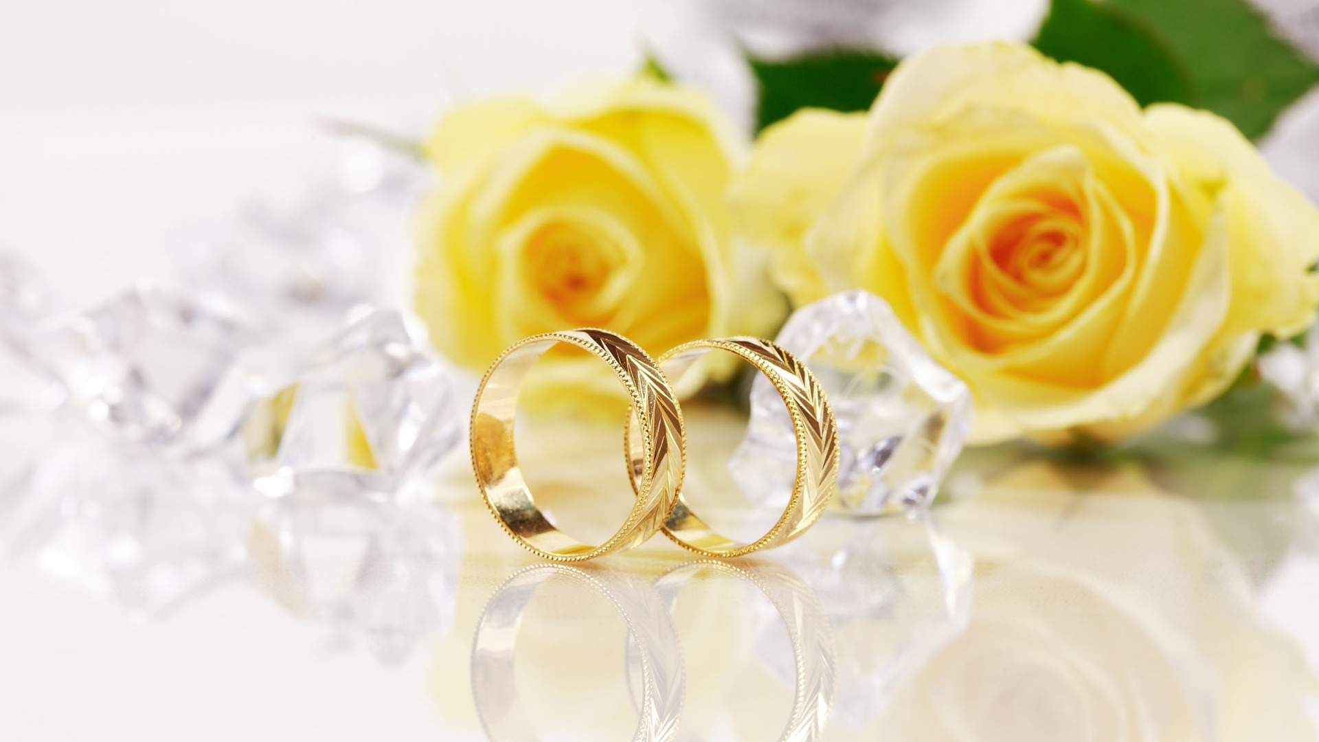 Flowers and Wedding Rings