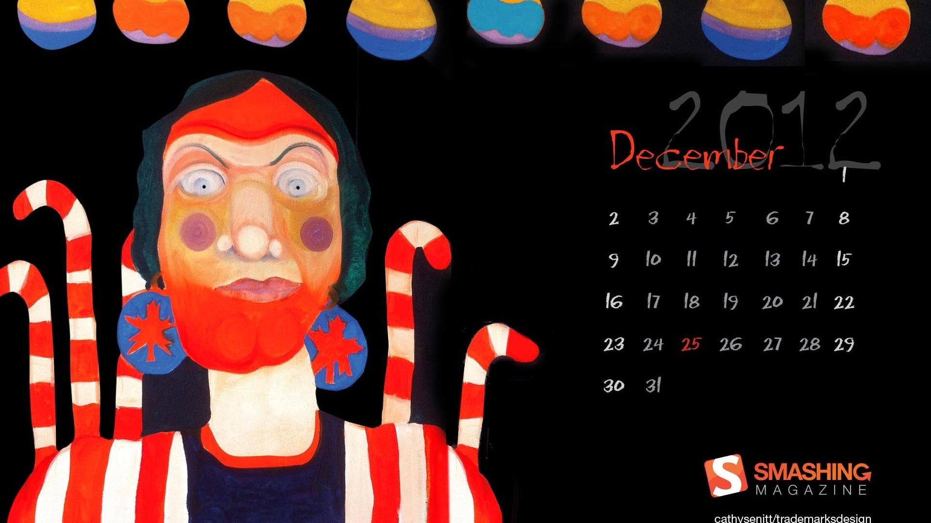 2012年12月 月历壁纸(一)14 - 1920x1080图片
