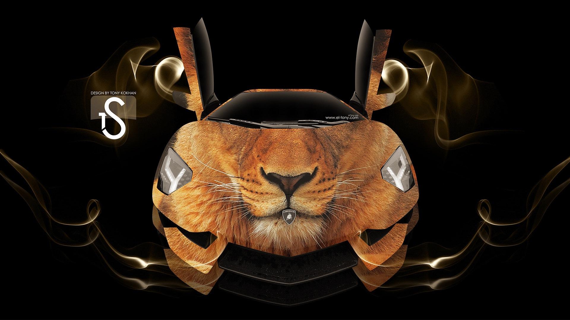 梦幻创意汽车设计壁纸,动物汽车3 - 1920x1080图片