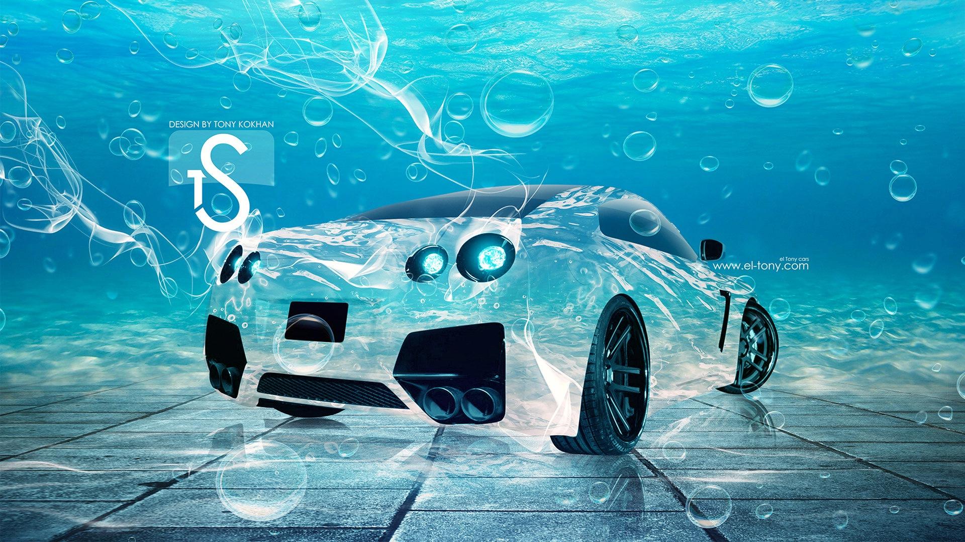 水花飞溅,汽车创意设计精美壁纸 #9 - 1920x1080图片