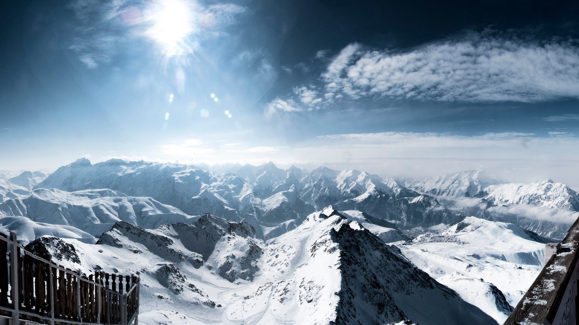 Winter Schnee Berge Seen Baume Strassen Hd Wallpaper 15