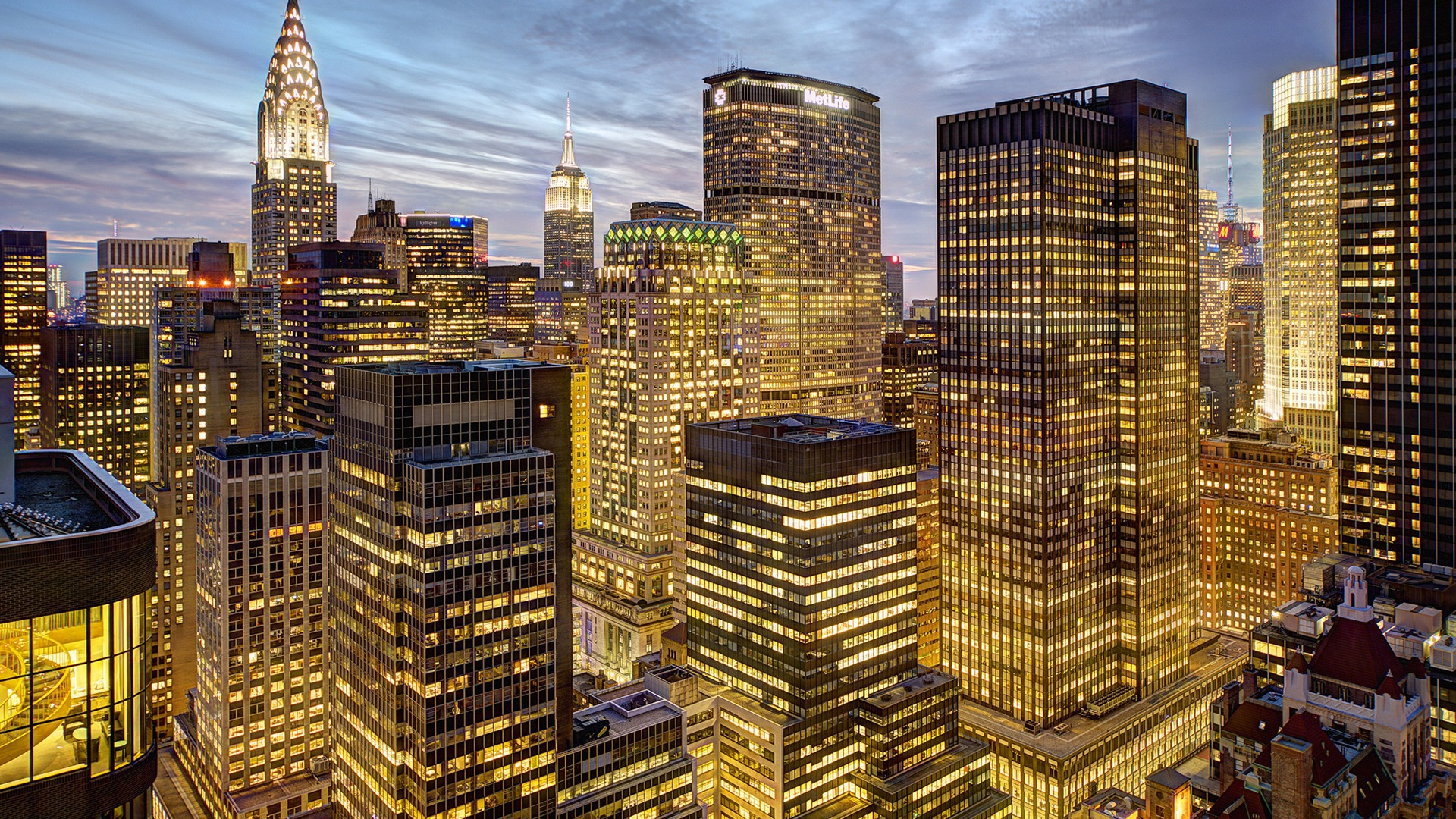 Empire state building new york ville la nuit fonds d for Ville a new york
