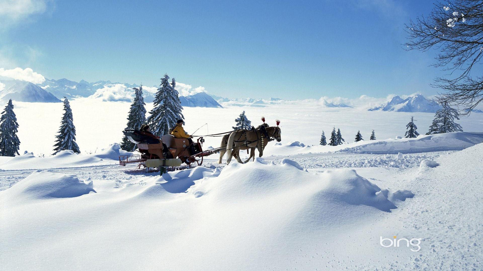 Neige d 39 hiver fonds d 39 cran hd magnifique de paysages 17 for Fond ecran hiver hd
