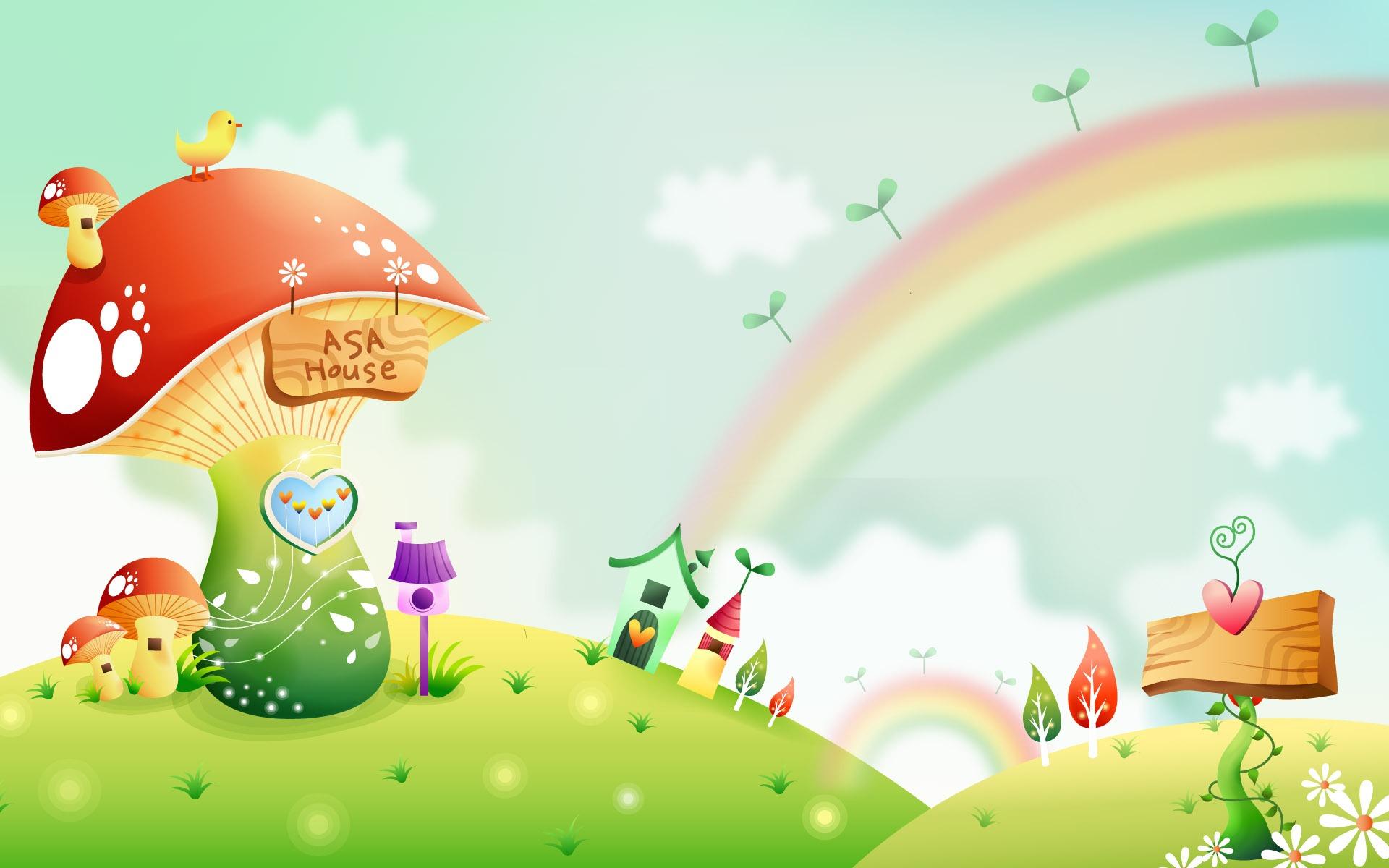 Fondos de pantalla de dibujos animados Fantasía Paisajes ...