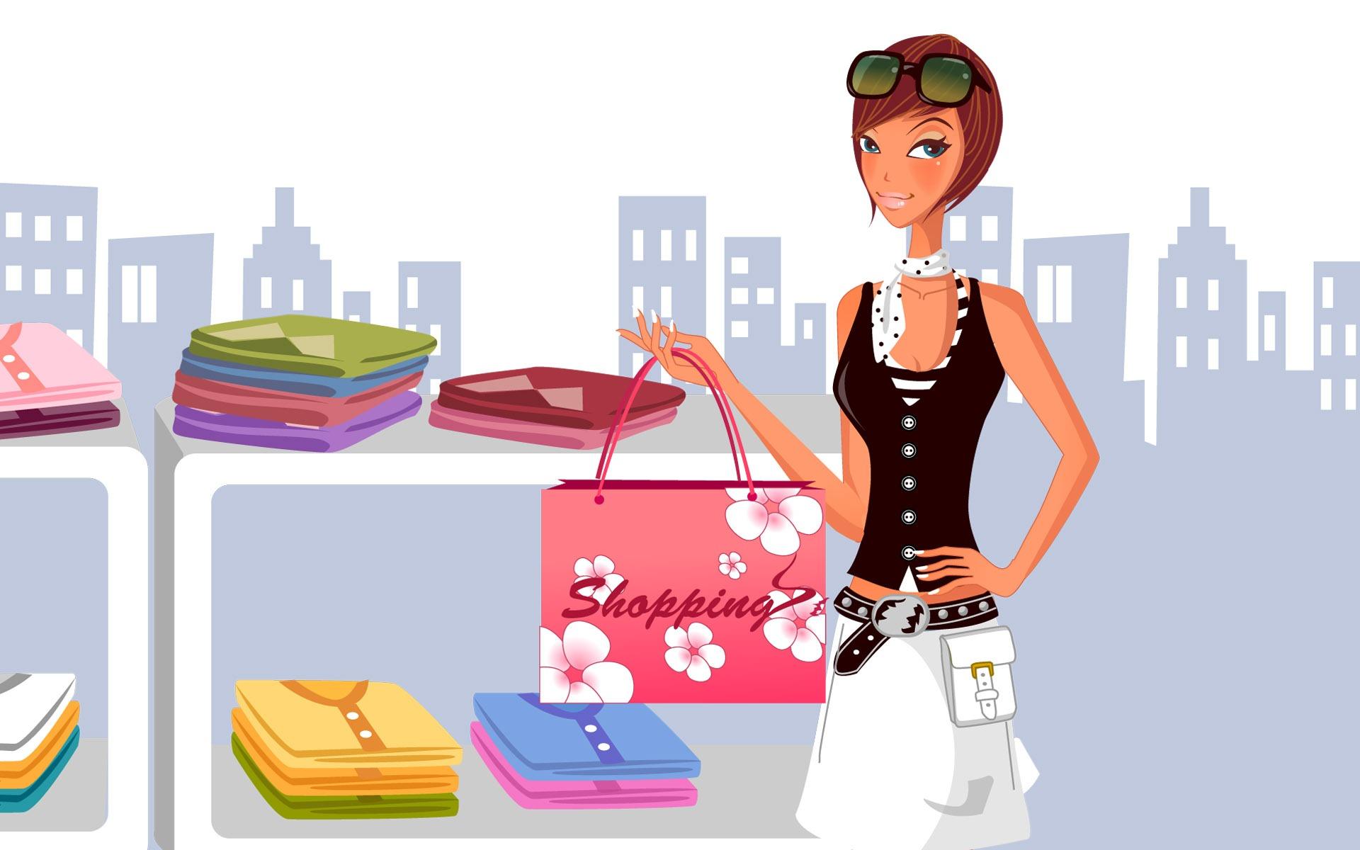 Fashion Shopping Women Wallpapers X
