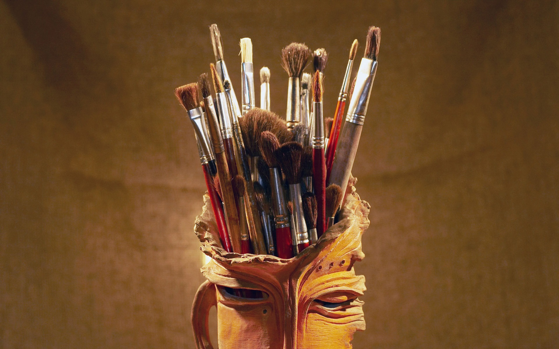 Colorful Wallpaper Paint Brushes 1 12