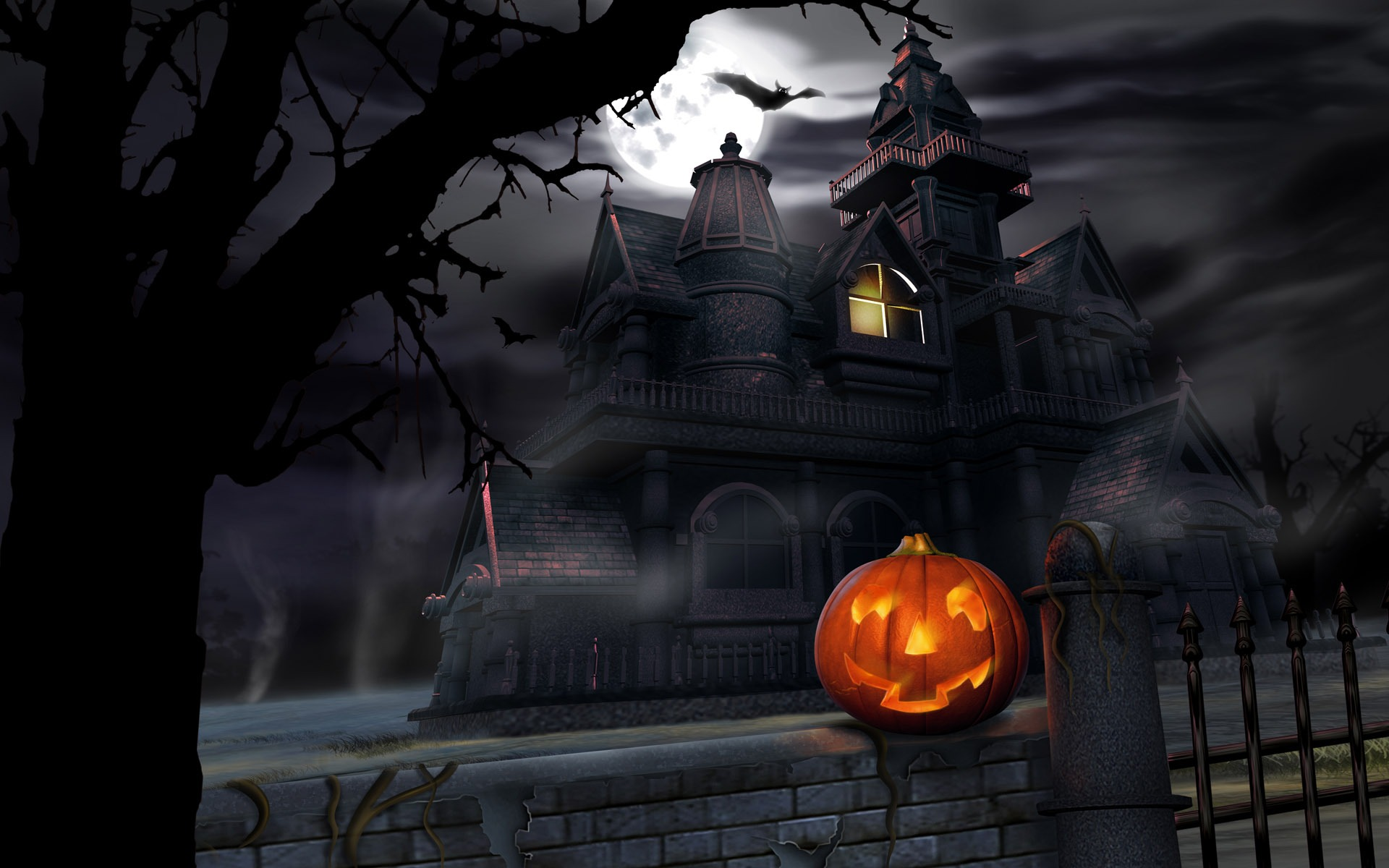 halloween theme wallpapers 4 3 1920x1200 - Halloween Themed Pictures