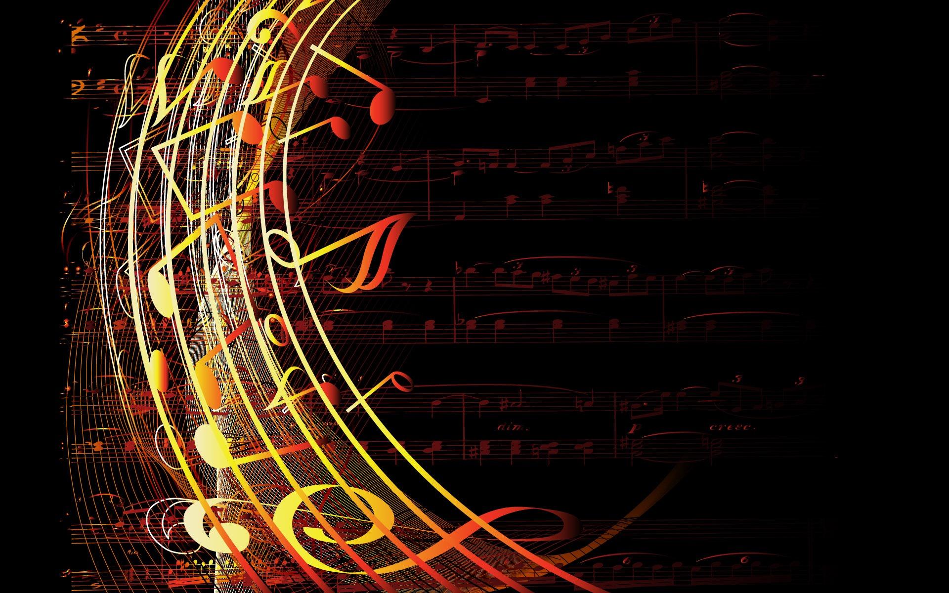 Sheet music desktop wallpaper