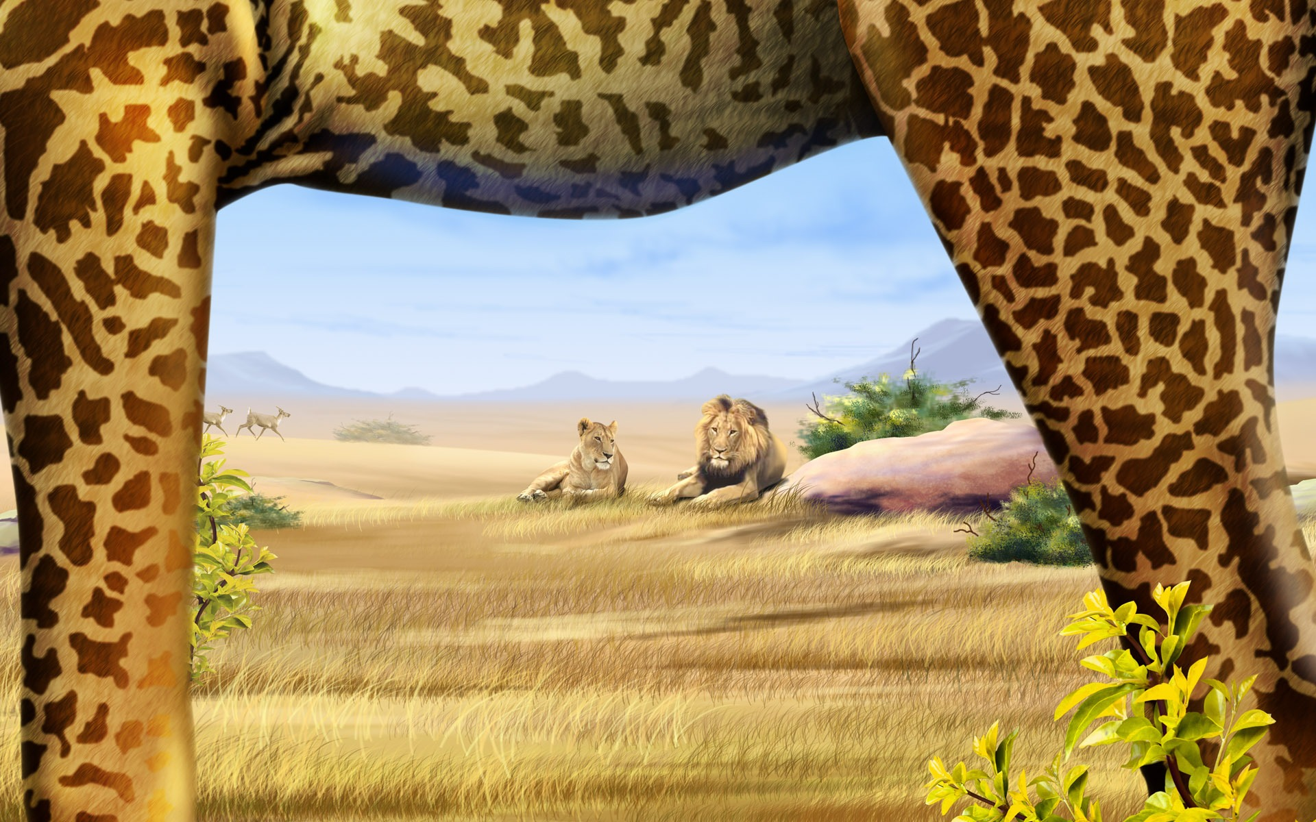 Top Wallpaper Colorful Giraffe - 1920_1200_20110109013159584324  Best Photo Reference_74784 .jpg