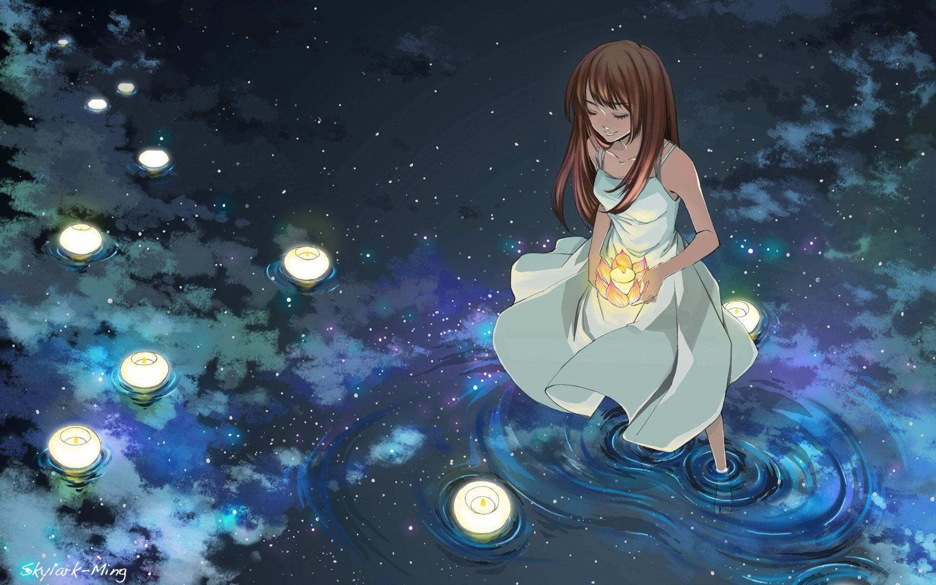 Firefly Summer Beautiful Anime Wallpaper 5