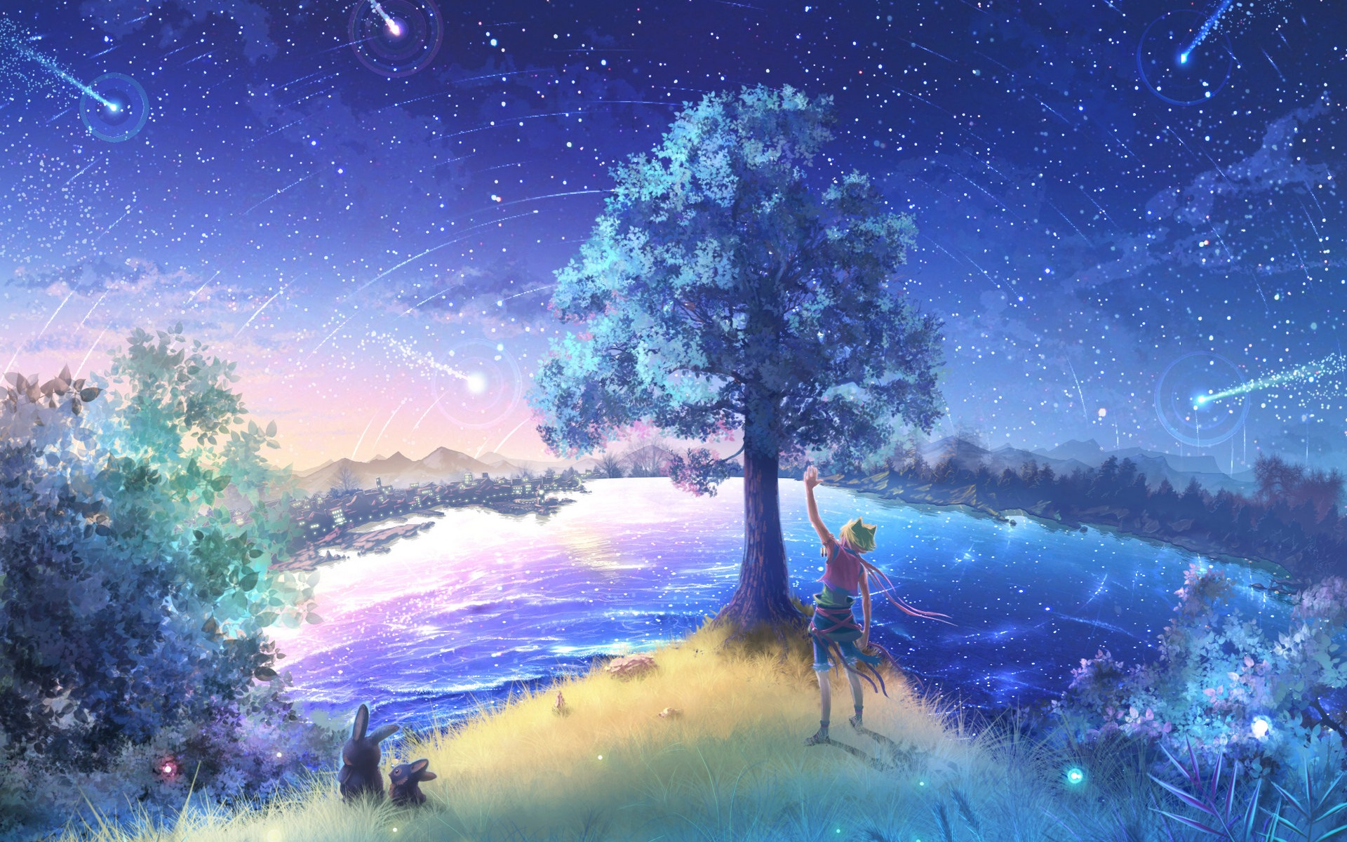Firefly Summer Beautiful Anime Wallpaper 14