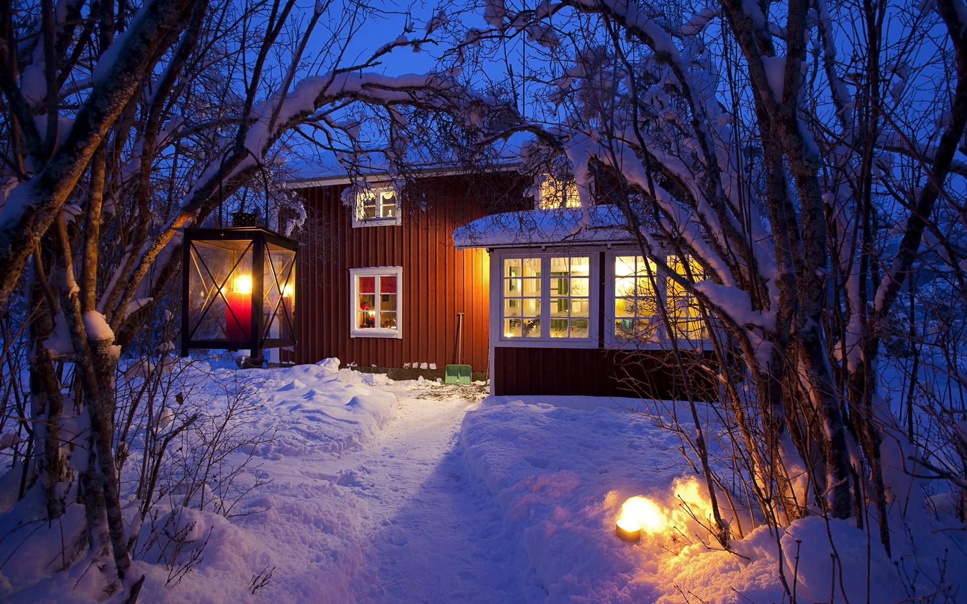 Windows 8 Theme Hd Wallpapers Winter Snow Night 9