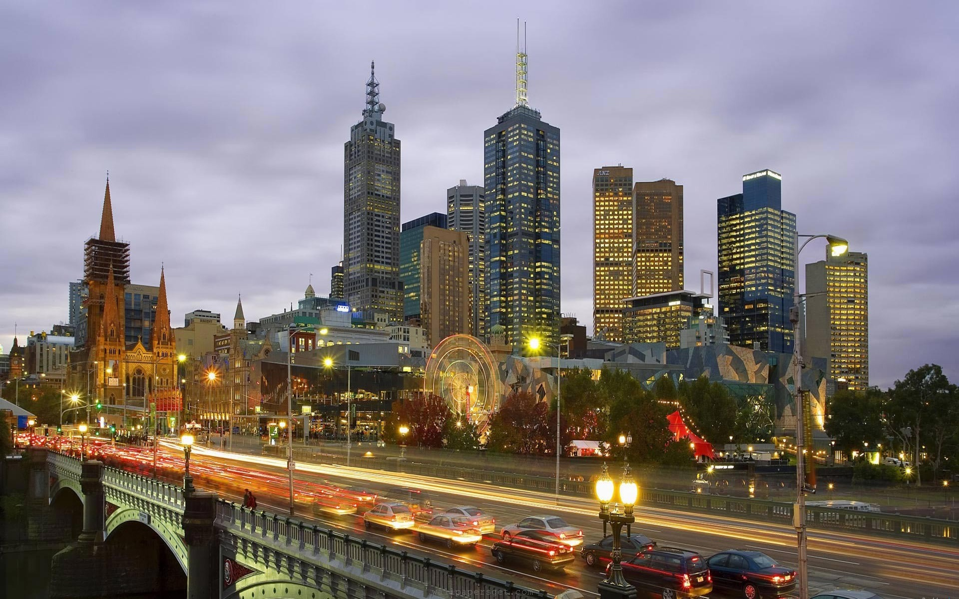 澳大利亚 墨尔本 城市风景 高清壁纸8 - 1920x1200