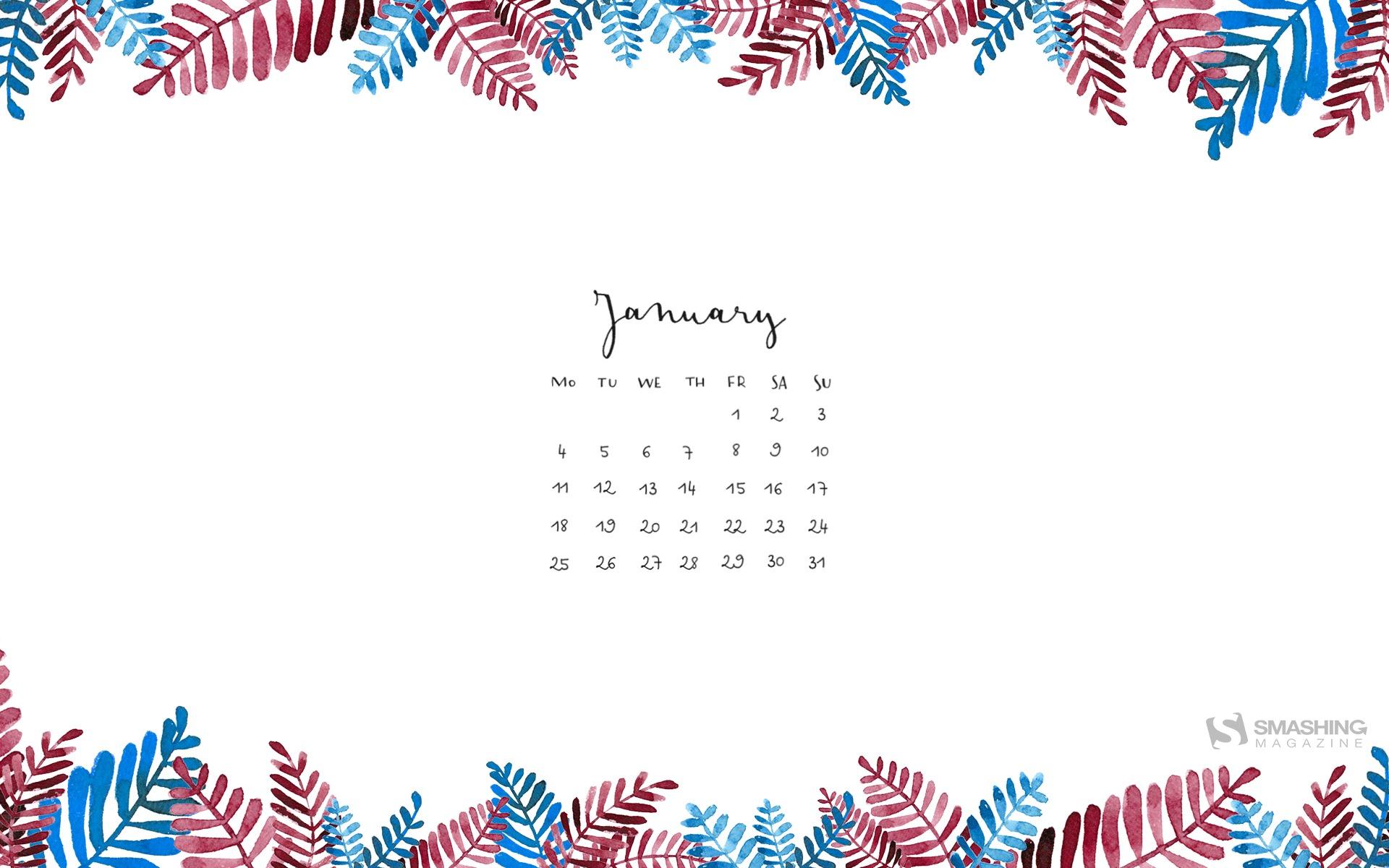 Janvier 2016 fonds d'écran calendrier (2) #8 - 1920x1200 Fond d ...
