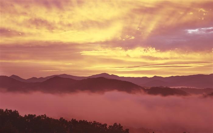 Beau lever de soleil coucher de soleil et de papier peint - Lever et coucher du soleil est ouest ...