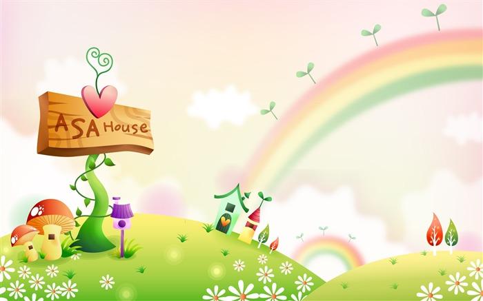 Fondos de pantalla de dibujos animados Fantasía Paisajes #2 ...
