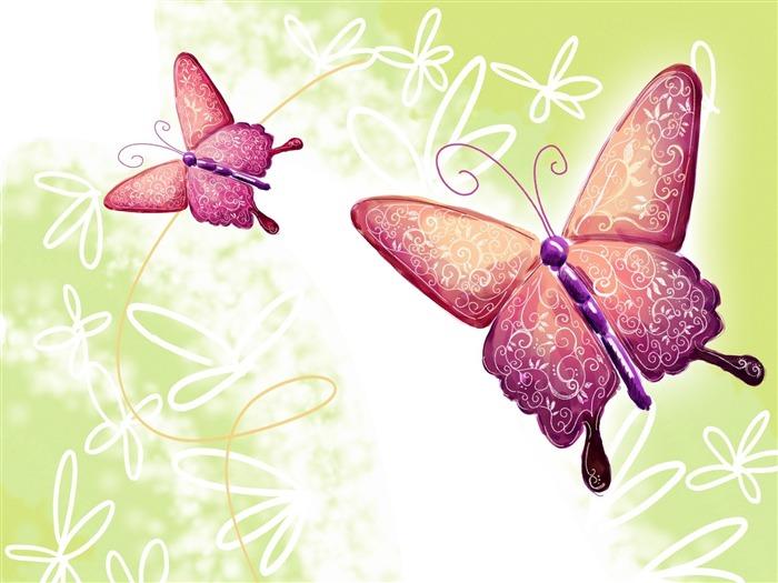 Открытка 3d с бабочками