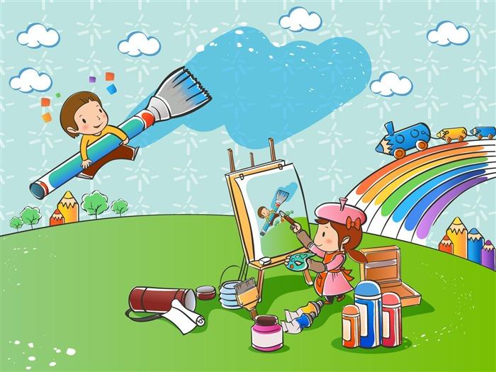 Vectores de dibujos animados fondos de escritorio de la infancia 1 20 fondo de pantalla de - Fondos de escritorio animados ...