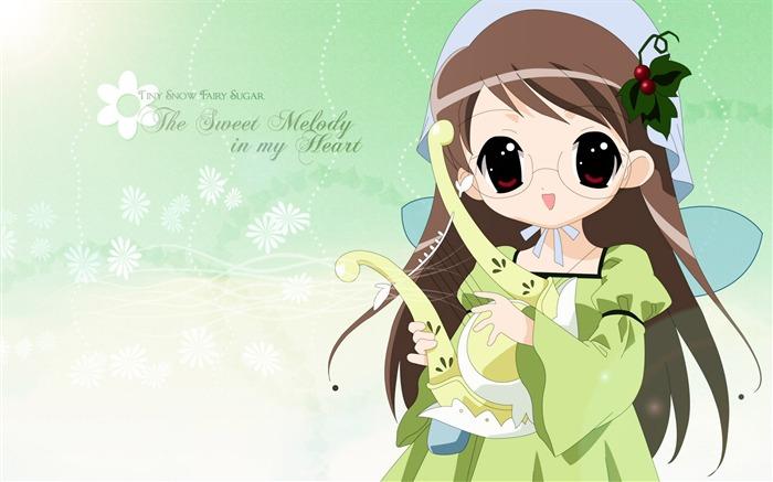 Аниме девушка сладкие мелодии Обои Фото Изображения.