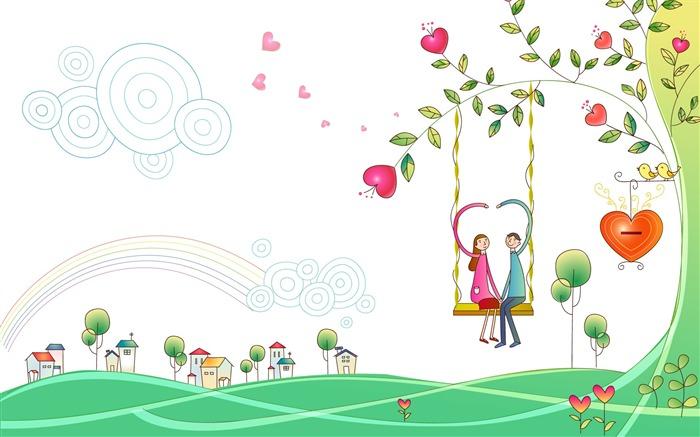 Vector Lovers fondo de pantalla de dibujos animados (1) #20 ...