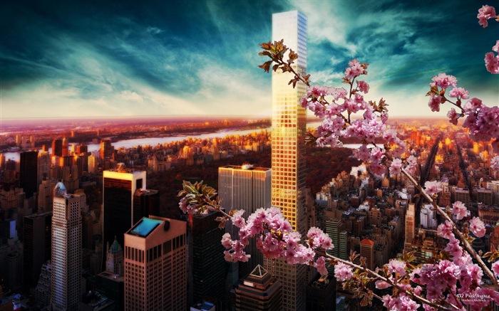 Noche de la ciudad con encanto fondos de pantalla HD #3 - Fondo de ...