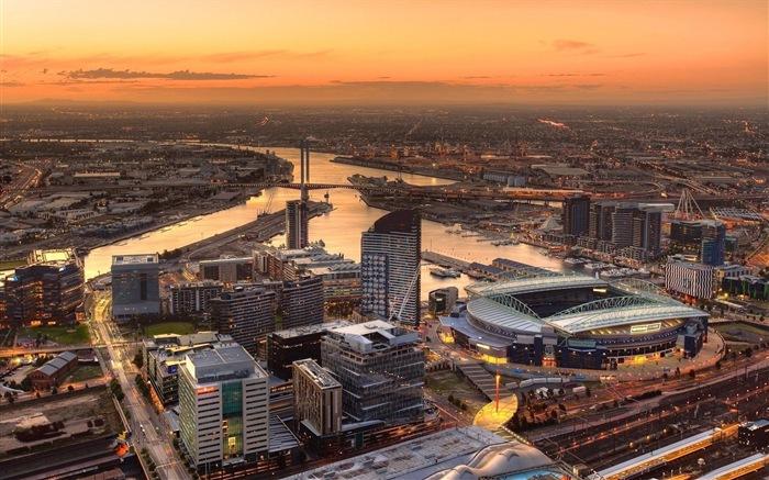 澳大利亚 墨尔本 城市风景 高清壁纸9