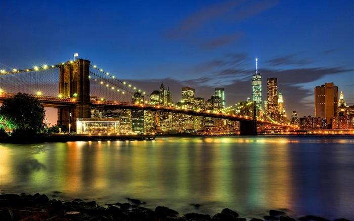 Empire State Building en Nueva York, ciudad wallpapers noche HD #7 ...