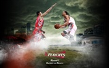 NBA Houston Rockets 2009 Playoff-Tapete