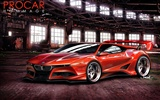 Fast sports wallpaper design automobile