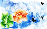 Exquisite Ink Flower Wallpapers