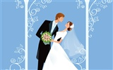 Vector wallpaper wedding bride (1)
