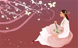 Vector wallpaper of Korean women (2) #3