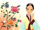 Vector wallpaper of Korean women (2) #8