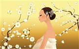Vector wallpaper of Korean women (2) #10