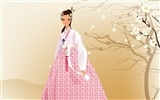Vector wallpaper of Korean women (2) #15