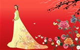 Vector wallpaper of Korean women (2) #16