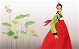Vector wallpaper of Korean women (2) #18
