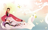 Vector wallpaper of Korean women (2) #19