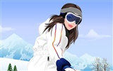 Vector collection of women wallpaper (3)